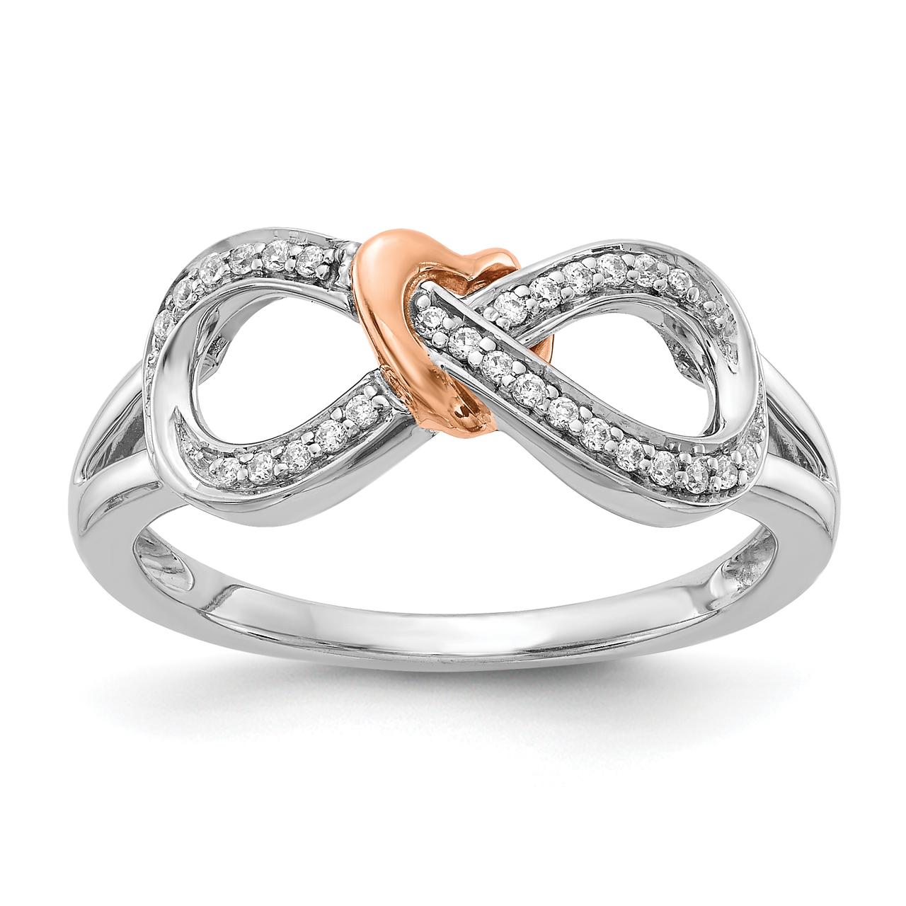 Lex /& Lu Sterling Silver Infinity Ring