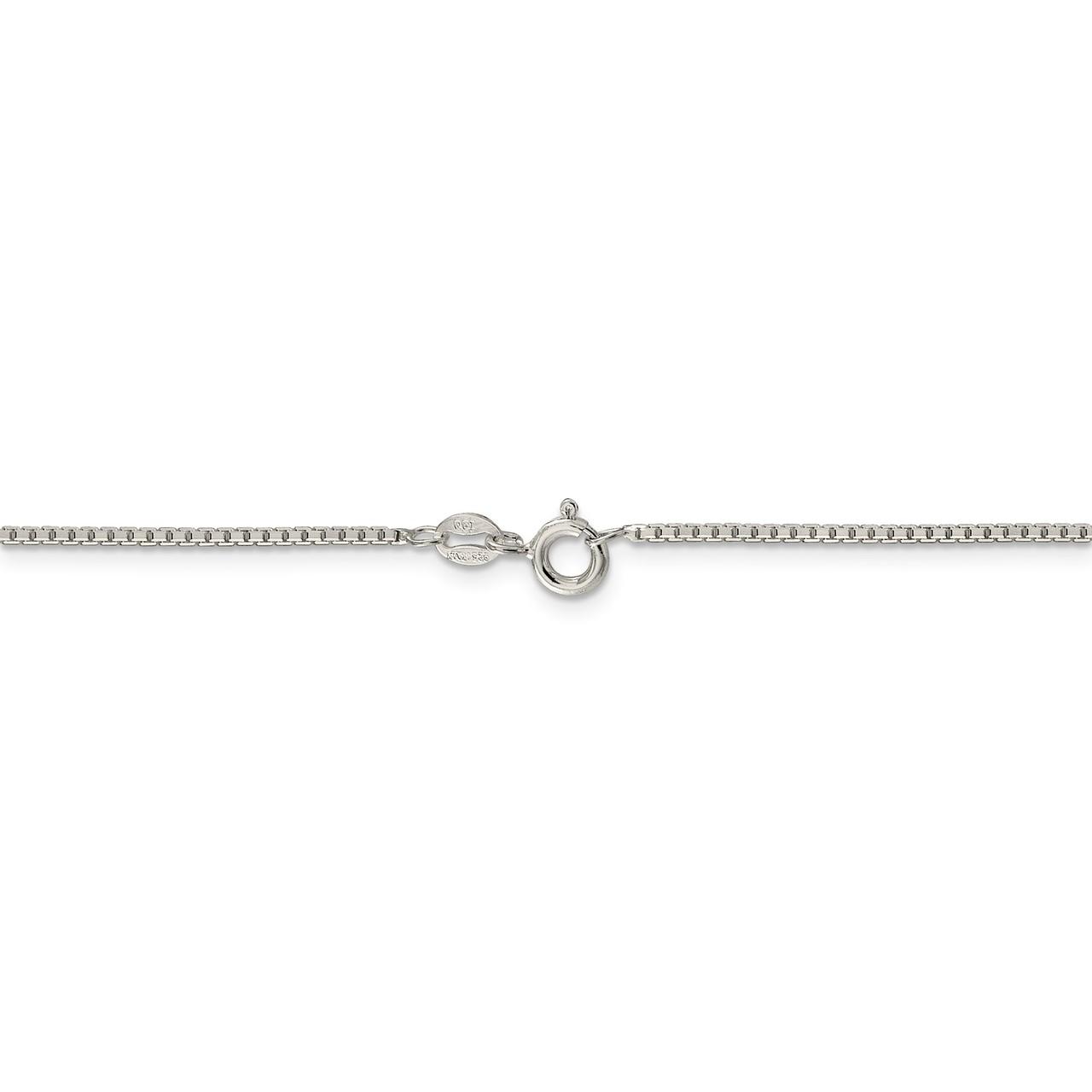 Sterling Silver 1.35mm 8 Side Diamond Cut Box Chain