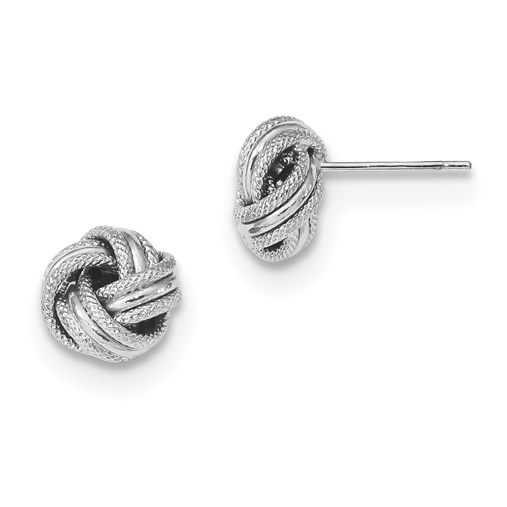 Lex /& Lu 14k White Gold Polished Love Post Earrings