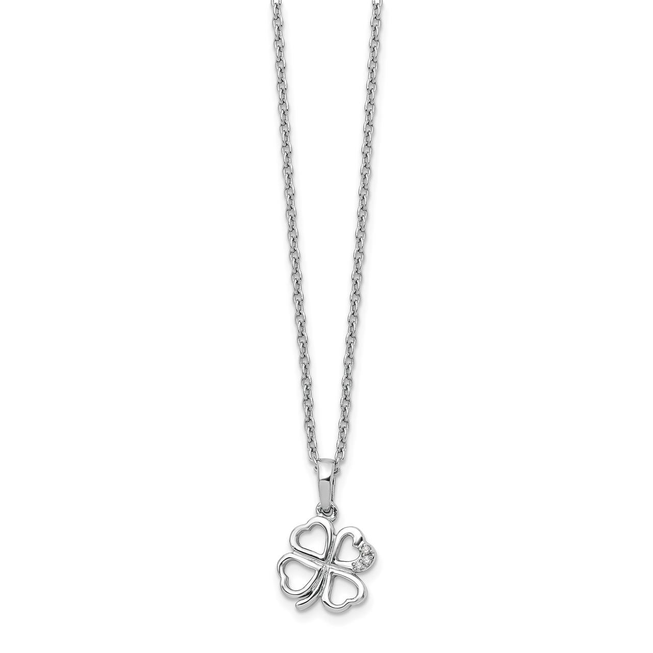 Lex /& Lu 14k Gold Rhodium-plated Infinity Heart Pendant