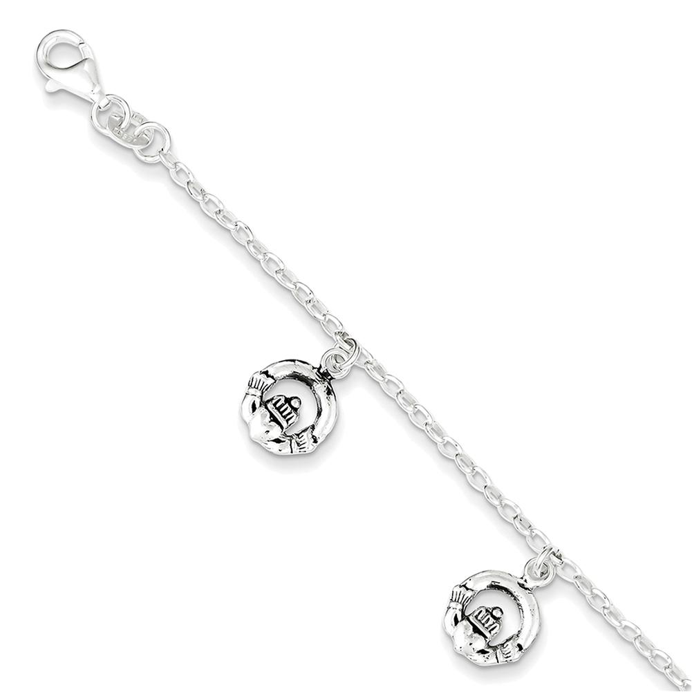 Sterling Silver Anchor Medical ID Bracelet 6 XSM55-6