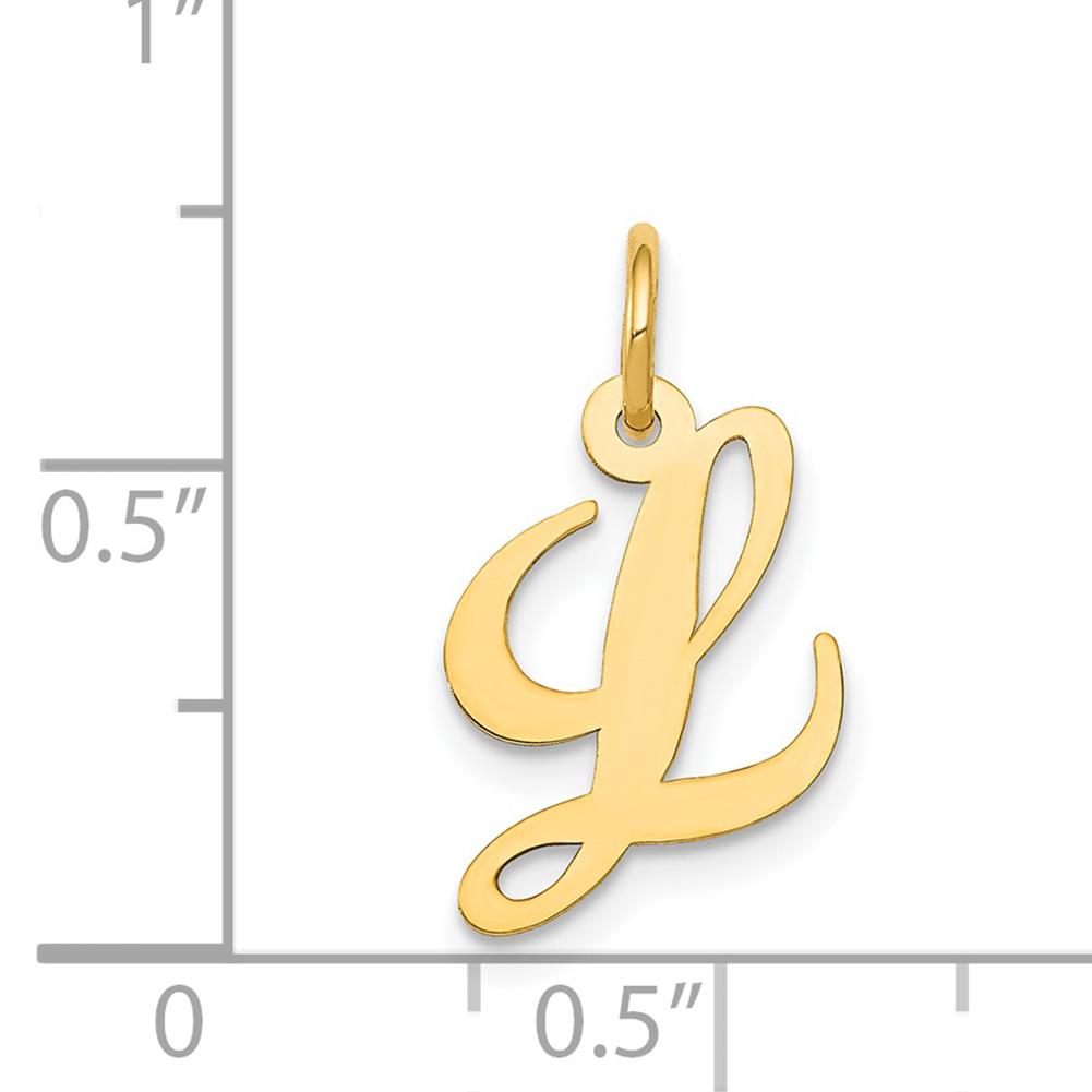 Lex /& lu 14k or Blanc Petit Fantaisie Script initial S charme