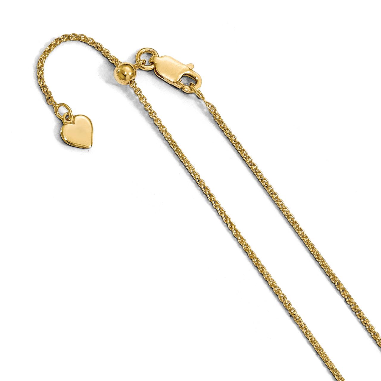 Lex /& Lu 14k Yellow Gold 1.5mm D//C Wheat Chain Necklace or Bracelet